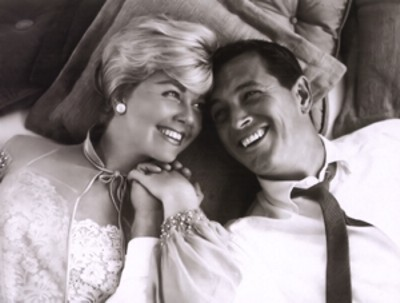 "Doris Day con Rock Hudson en ""Confidencias a medianoche"""