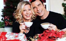 Actores que dan la nota: John Travolta y Olivia Newton-John felicitan la Navidad
