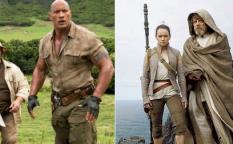 """Celda de cifras: """"Star Wars: Los últimos jedi"""" lidera el 2017 ante la subida de """"Jumanji: Bienvenidos a la jungla"""""""