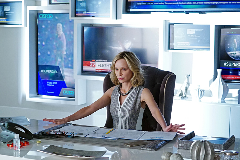 SUPERGIRL, airing Mondays 8:00-9:00 PM, ET/PT starting in November, is CBS's new action-adventure drama based on the DC COMICS' character Kara Zor-El, Superman's (Kal-El) cousin who, after 12 years of keeping her powers a secret on Earth, decides to finally embrace her superhuman abilities and be the hero she was always meant to be.  Kara lives in National City assisting media mogul and fierce taskmaster Cat Grant (Calista Flockhart), who just hired the Daily Planet's former photographer, James Olsen, as her new art director.   Photo: Richard Cartwright/CBS ©2015 CBS Broadcasting, Inc. All Rights Reserved