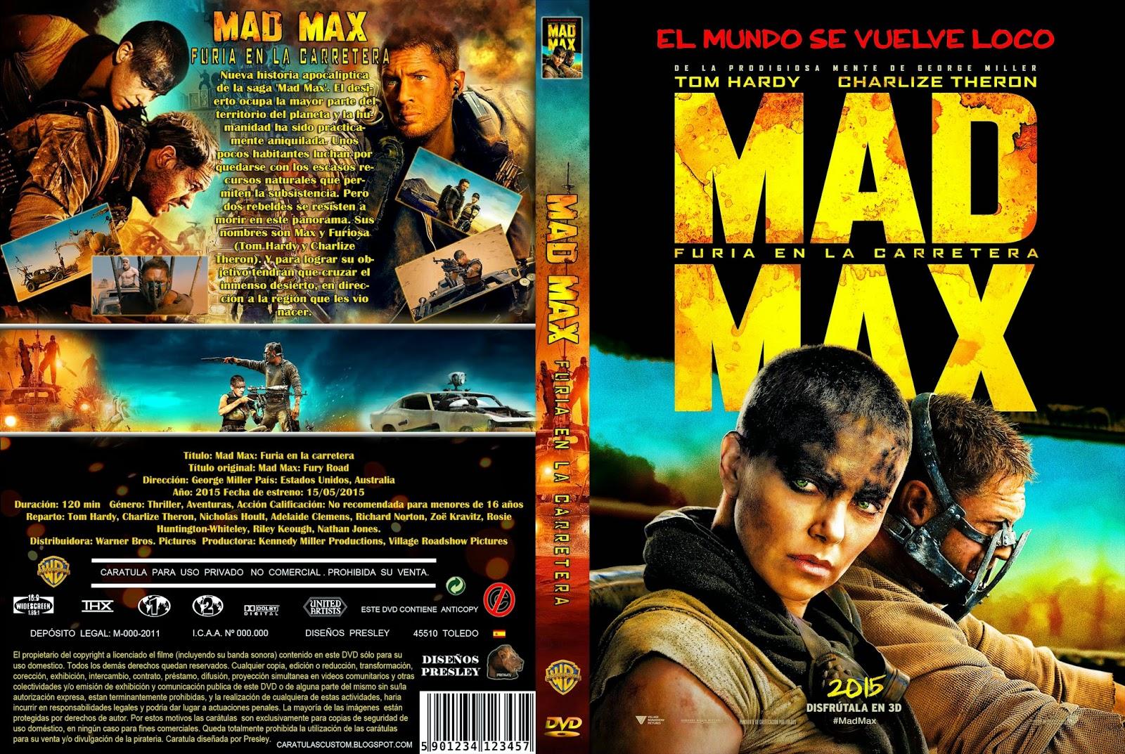 DVDMadMaxFuriaenlacarretera