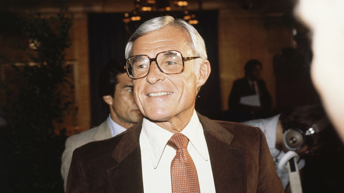NBC?s chief executive Grant Tinker at a press conference on July 13, 1981. (AP Photo)
